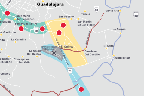 This is a map of Guadalajara, Mexico
